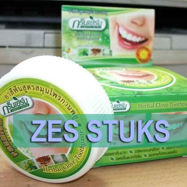 bestel zes stuks kokosolie kruiden tandpasta